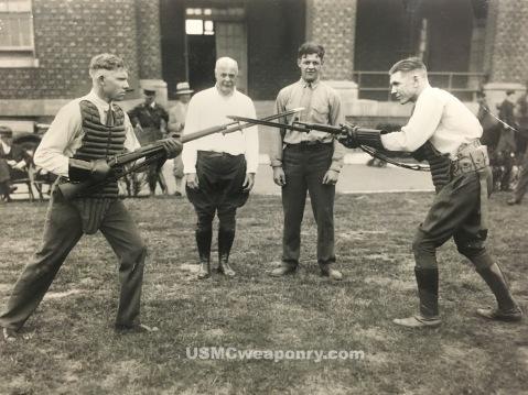 Marines from the barracks at Philadelphia, early 1910's. (photo: NARA)