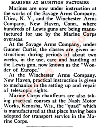 Marines at Winchester July 1917